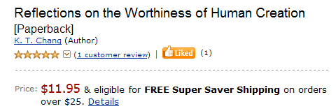 Reflections on the                            Worthiness of Human Creation -- Order from                            Amazon