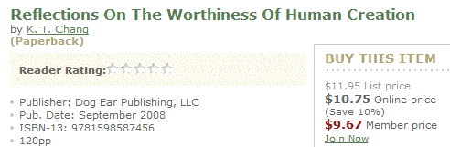 Reflections on the                             Worthiness of Human Creation -- Order from                             Barnes & Noble Online