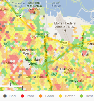 Lowestcost Cell Phone Service Plans US - Jitterbug coverage map